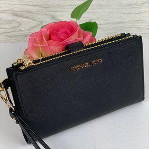 ❤️Michael Kors DoubleZip Wallet Wristlet Black